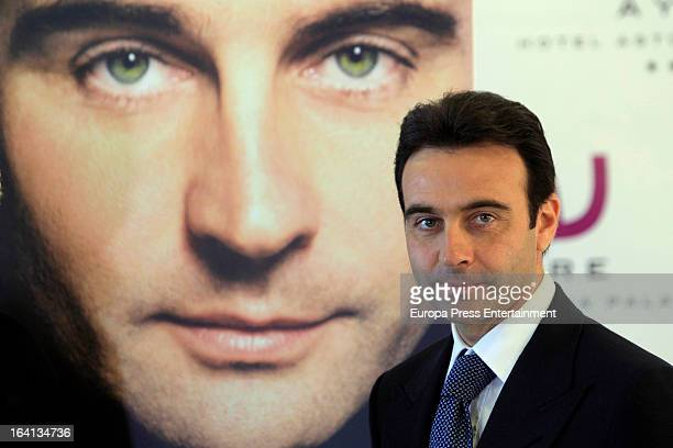 Spanish bullfighter Enrique Ponce presents his autobiography 'Enrique Ponce a bullfighter for History' at Astoria Hotel on March 15 2013 in Valencia...
