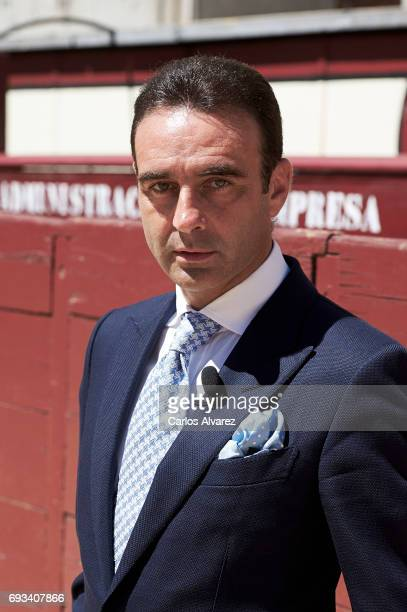 Spanish bullfighter Enrique Ponce receives the 'Oreja de Oro' award at Las Ventas Bullring on June 7 2017 in Madrid Spain