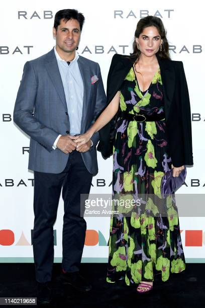 Spanish bullfighter Francisco Rivera and wife Lourdes Montes attend Rabat's Jewelry new collection presentation at Bless Hotel on April 03 2019 in...