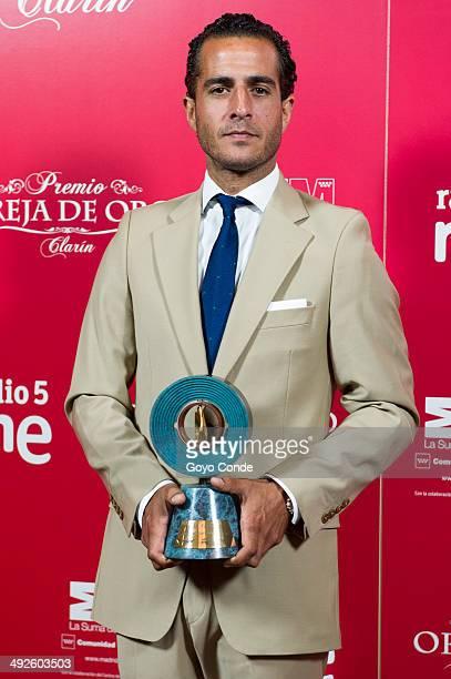 Spanish bullfighter Ivan Fandino attends the 'Oreja y Hierro de Oro' 2014 awards at the Las Ventas bullring on May 21 2014 in Madrid Spain