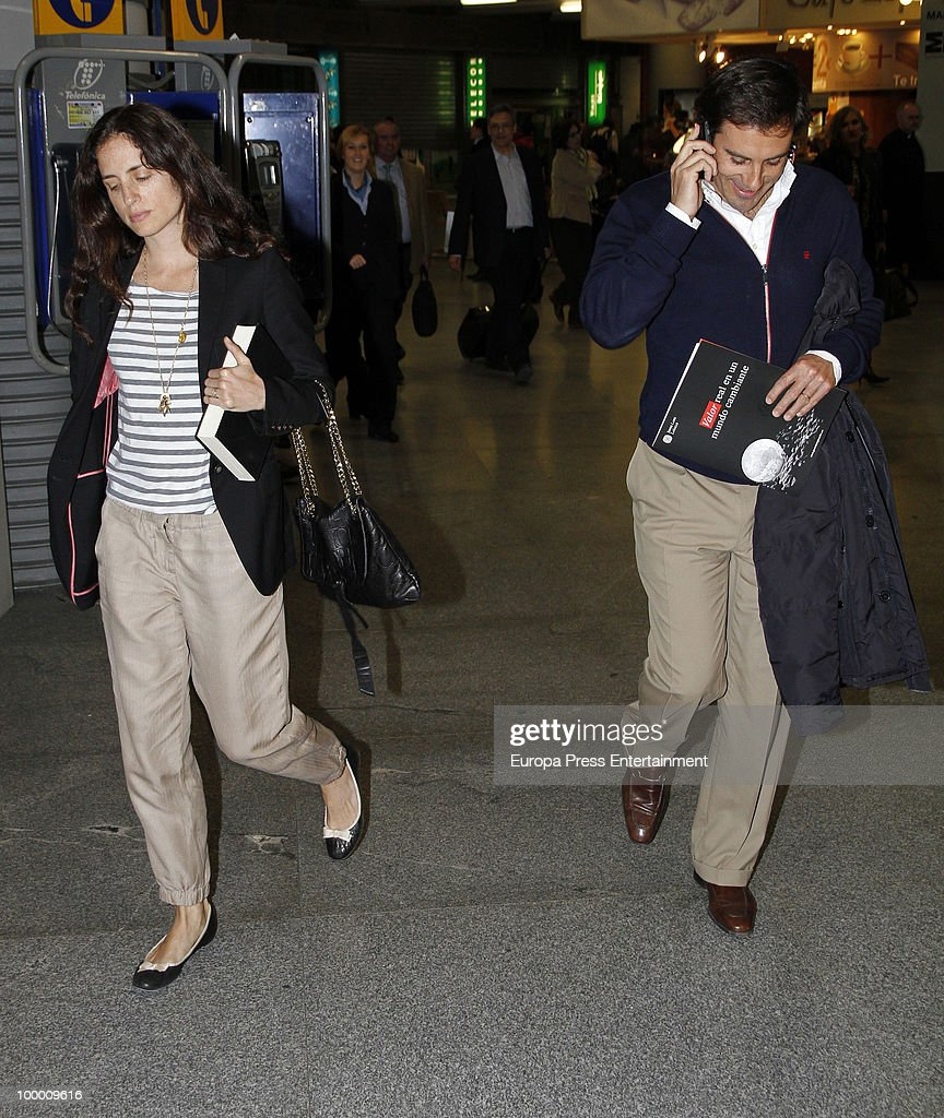 Spanish bullfighter Miguel Baez 'Litri' and Carolina Adriana Herrera are seen sighting on May 20, 2010 in Madrid, Spain.