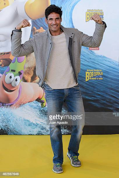 Spanish bullfighter Oscar Higares attends the 'Bob Esponja' Premiere at Kinepolis Cinema on January 31 2015 in Madrid Spain