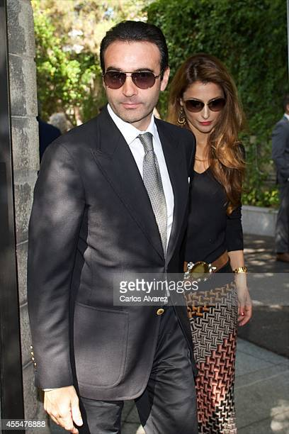 Spanish bullfigther Enrique Ponce and his wife Paloma Cuevas attend the memorial service for Spanish businessman and President of El Corte Ingles...