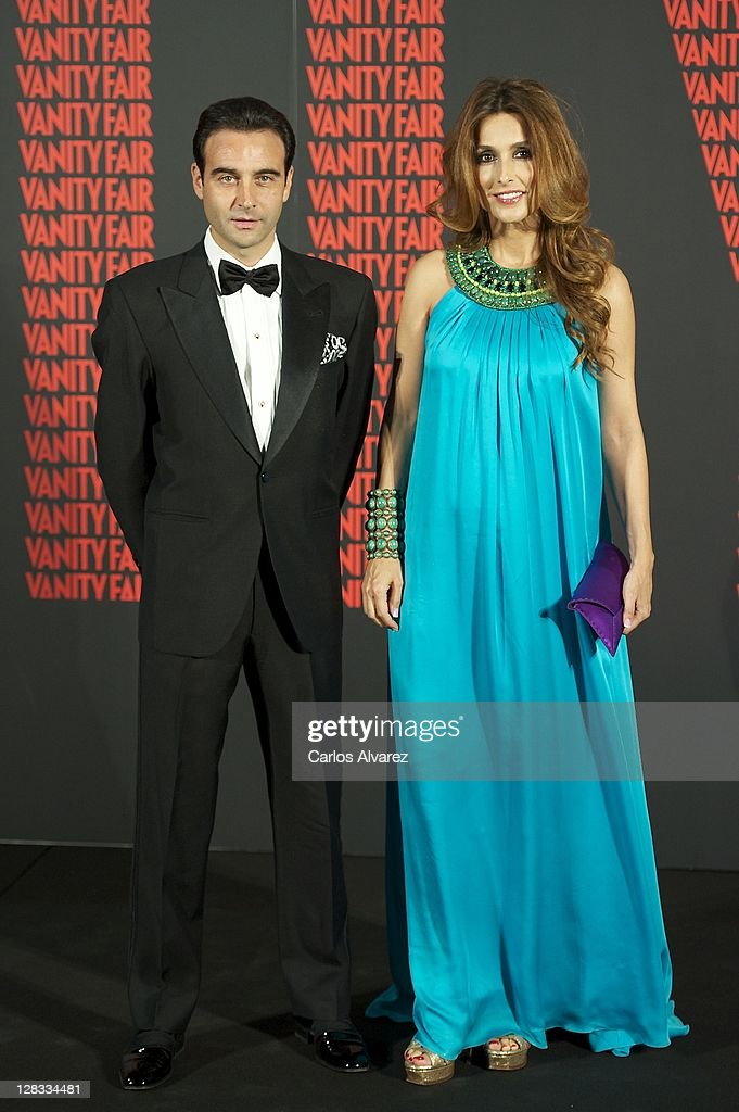 Spanish bullfigther Enrique Ponce and wife Paloma Cuevas attend 'Man of the Year 2011' Vanity Fair Award at 'Museo de America' on October 6, 2011 in Madrid, Spain.