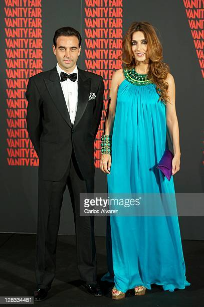 Spanish bullfigther Enrique Ponce and wife Paloma Cuevas attend Man of the Year 2011 Vanity Fair Award at Museo de America on October 6 2011 in...