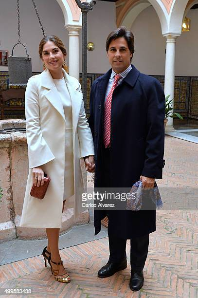 Spanish bullfigther Francisco Rivera and wife Lourdes Montes attend the Gold Medals of Merit in Fine Arts 2014 ceremony at the Bellas Artes Museum on...