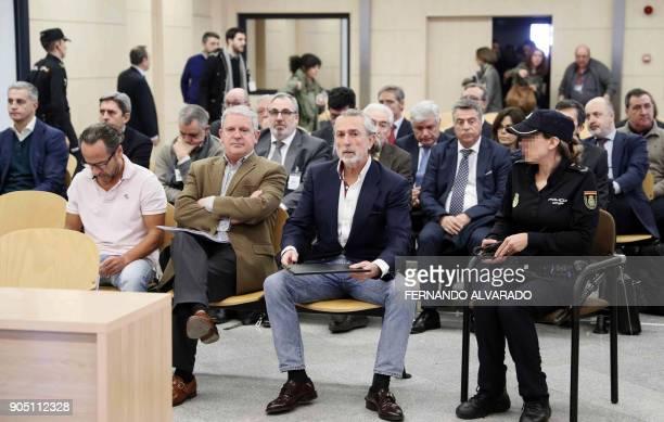 Spanish businessman Alvaro Perez Alonso 'El Bigotes' former secretary of the Partido Popular of Galicia Pablo Crespo and Spanish businessman...