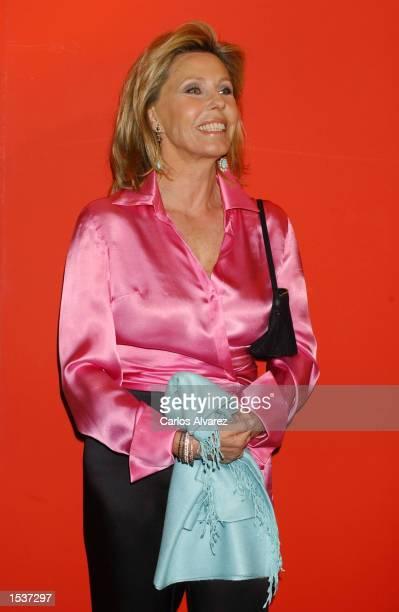 Spanish businesswoman Ana Gamazo attends the opening of designer Carolina Herrera's new boutique April 29 2002 in Madrid Spain