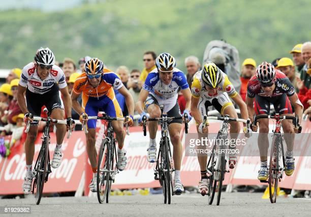 Spanish Carlos Sastre , Russian team leader Denis Menchov , US Christian Vandevelde , Super-Besse and Bagneres-de-Bigorre winner, Italian Riccardo...