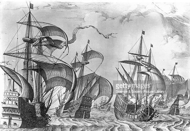 Spanish carracks and galleons 1561