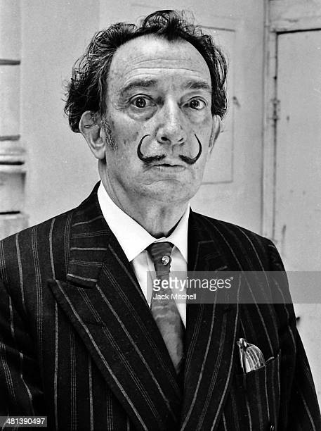 Spanish Catalan surrealist painter Salvador Dali photographed in Barcelona Spain on May 24 1966