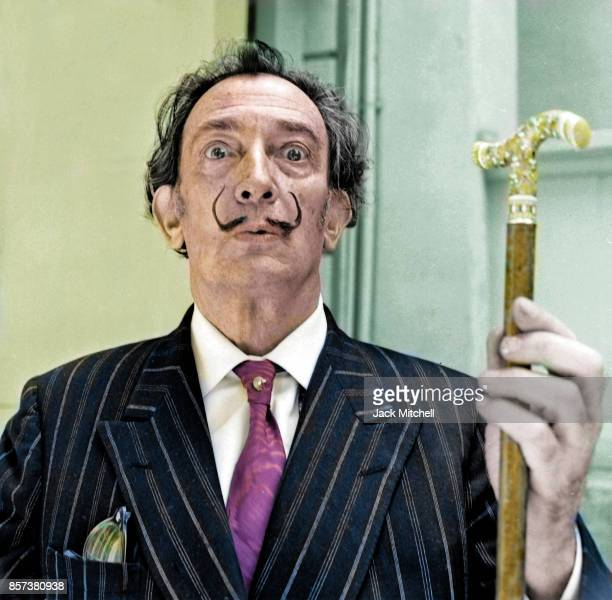 Spanish Catalan surrealist painter Salvador Dali photographed in Barcelona Spain on May 24, 1966. .