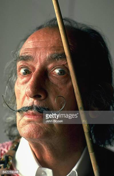 Spanish Catalan surrealist painter sculptor and screenwriter Salvador Dali