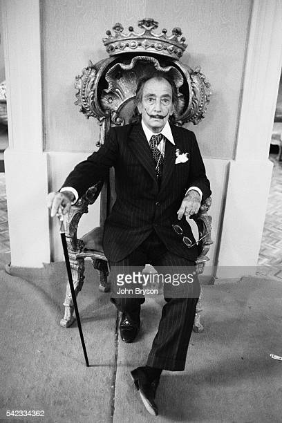 Spanish Catalan surrealist painter sculptor and screenwriter Salvador Dali at his home in Port Lligat