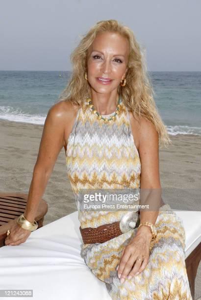 Spanish celebrity Carmen Lomana celebrates her birthday on August 01 2011 in Marbella Spain