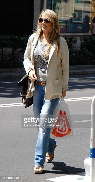 Spanish celebrity Isabel Sartorius is seen sighting on July 14 2010 in Madrid Spain