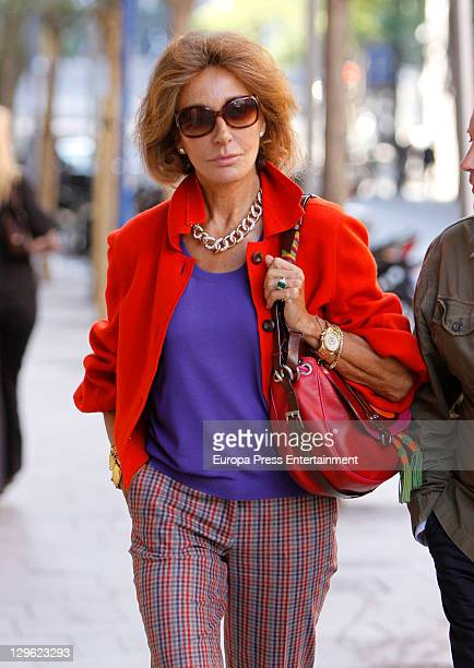 Spanish celebrity Nati Abascal is seen on October 19 2011 in Madrid Spain