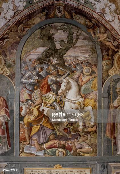 Spanish Chapel by Alessandro Allori 13661367 14th Century fresco Italy Tuscany Florence Santa Maria Novella Spanish Chapel Detail Fresco in the...