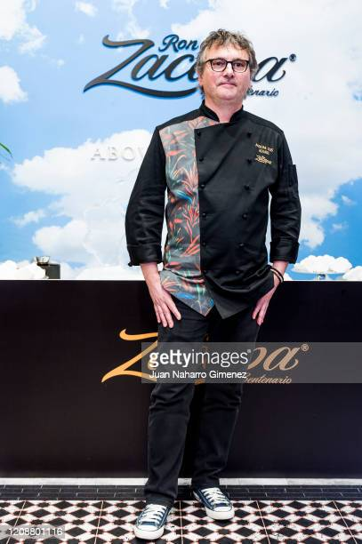 Spanish chef Andoni Luis Aduriz attends 'Ron Zacapa' photocall during ARCOmadrid 2020 at Ifema on February 26 2020 in Madrid Spain
