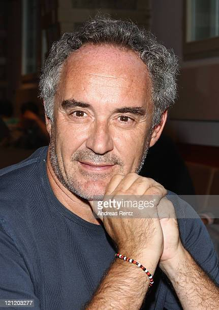 Spanish chef Ferran Adria attends the El Bulli Cooking in progress photocall at Hakesche Hoefe cinema on August 15 2011 in Berlin Germany