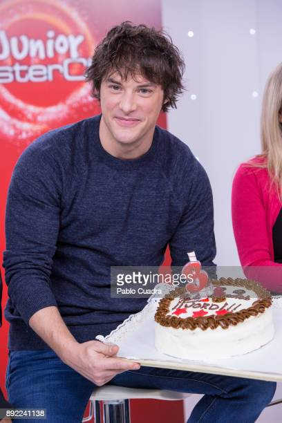 Spanish chef Jordi Cruz attends the presentation of a new seson of 'Masterchef Junior' at TVE studios on December 14 2017 in Madrid Spain