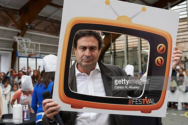 Spanish chef Pepe Rodriguez attends Master Chef Junior new season presentation during the 7th FesTVal Television Festival 2015 at the El Campillo...