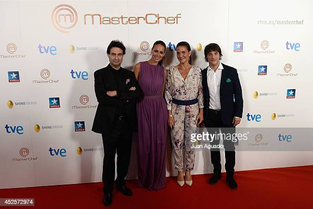 Spanish Chef Pepe Rodriguez Spanish TV Host Eva Gonzalez Spanish Chef Samantha Vallejo Najera and Spanish Chef Jordi Cruz attend the 'MasterChef'...