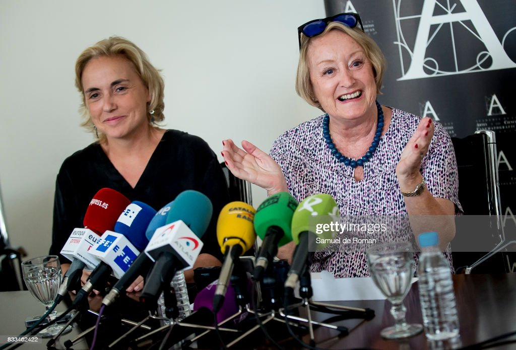Spanish Cinema Academy President Yvonne Blake and Eva Sanz del Real during Spanish Cinema Academy Announces Pre Selection For Oscar Awards on August 17, 2017 in Madrid, Spain.