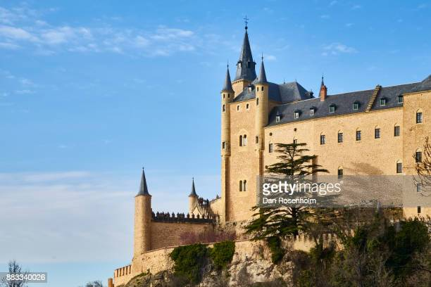 Spanish Cities, Alcázar of Segovia standing on the cliff