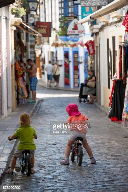 Spanish Cities, Cordoba old town, narrow streets in the historical part of the city, Spain