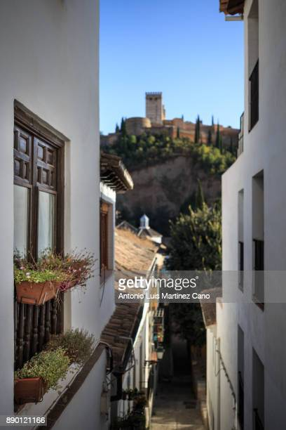 spanish cities - granada stock photos and pictures