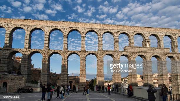 Spanish Cities, Segovia aqueduct at Easter time