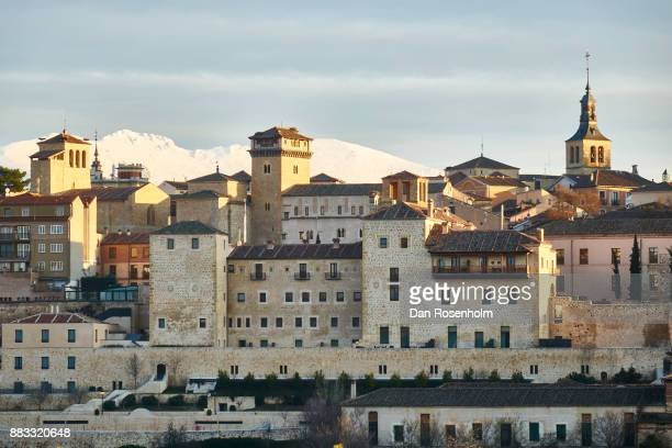 Spanish Cities, Segovia with snowy mountain in the background