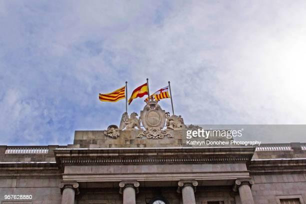 Spanish Cities-Flags of Barcelona