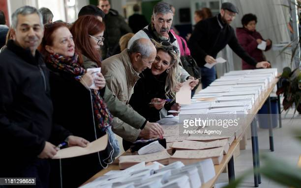 Spanish citizens cast their ballots at a polling station in Madrid, Spain on November 10, 2019. Spain holds general elections after Sanchez failed to...