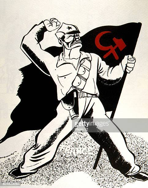French cartoon against the Communist Party of Spain 1936