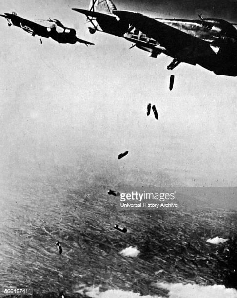 Spanish civil war Italian aircraft bomb Republican positions in Spain