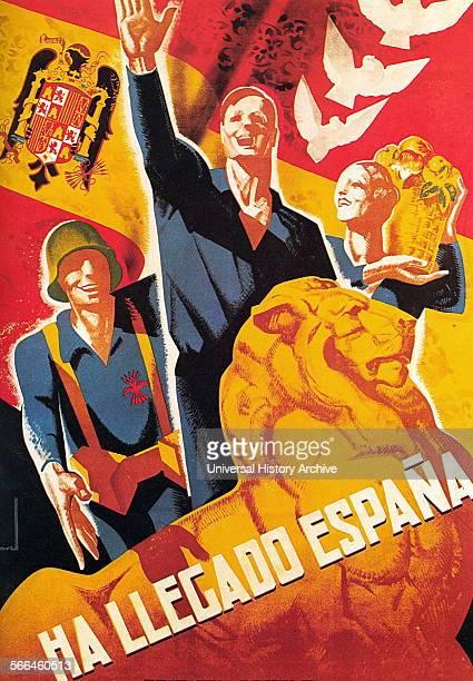 Spanish Civil War nationalist propaganda poster 1938