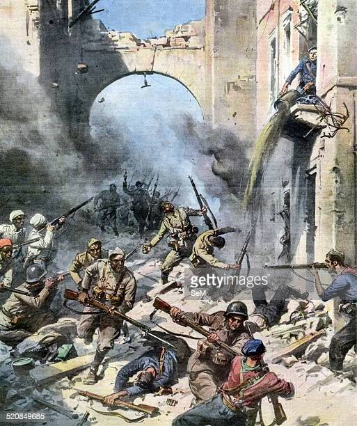 Spanish Civil WarThe fight in the streets of Madrid The troops of General Franco advancing slowly encountering each house the fierce resistance of...