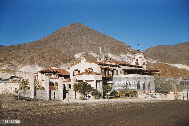 Spanish Colonial Revival style villa Scotty's Castle, Grapevine Mountains, Death Valley, Death Valley National Park, California, August 1959.