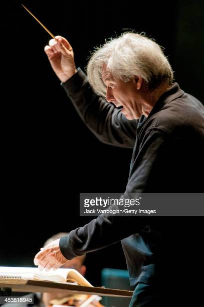 Spanish conductor Angel GilOrdonez leads the Orchestra of St Luke's in 'Nights in the Gardens of Spain' in the 'Falla and Flamenco' program at BAM...