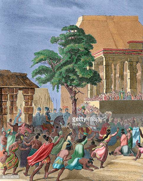Spanish conquest of the Aztec Empire Spaniards find regufe in Tlaxcala after suffered a lot of casualties fighting against the Aztecs in the Battle...