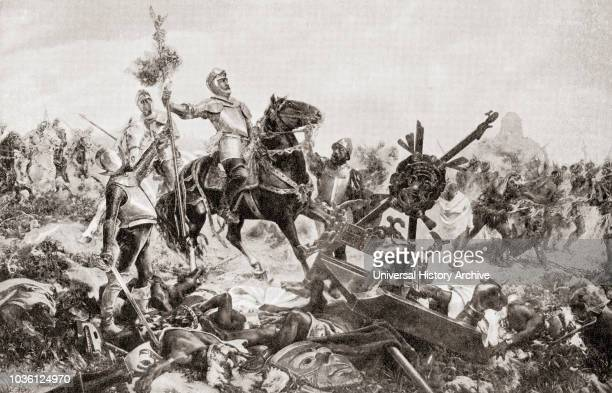 Spanish Conquistador leader of an expedition that caused the fall of the Aztec Empire From Hutchinson's History of the Nations published 1915