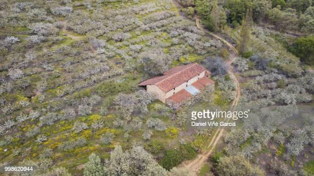 Spanish countryside aerial shot