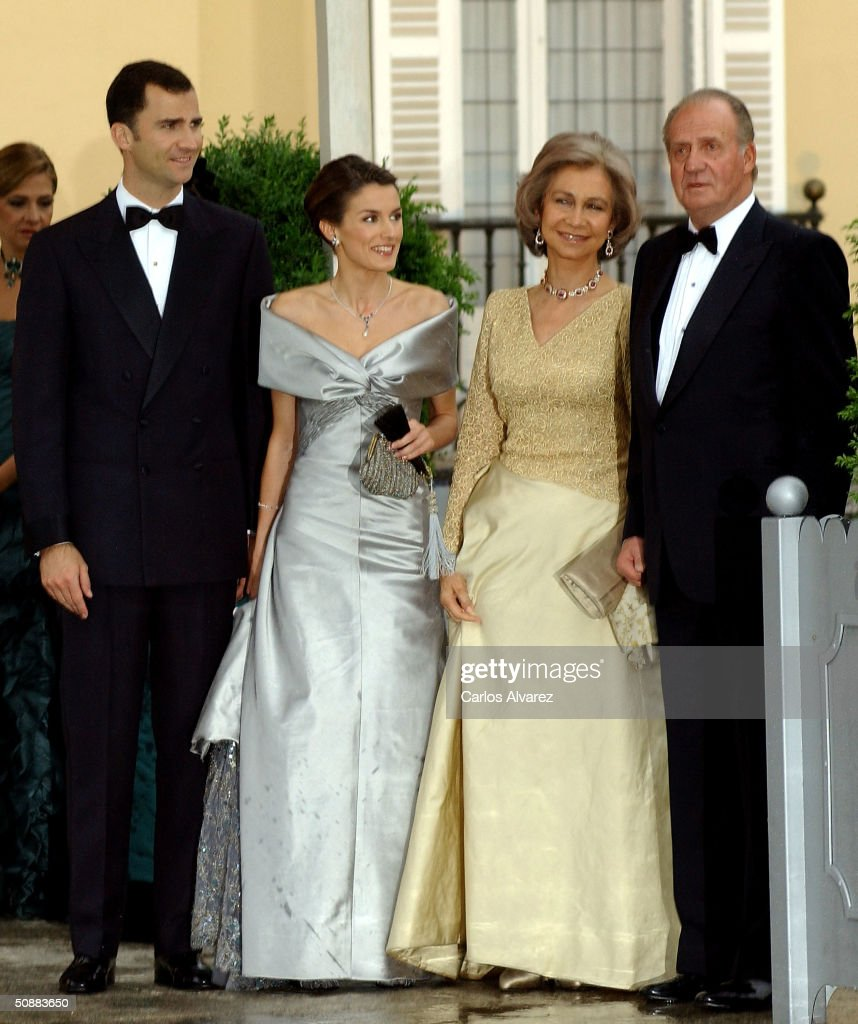Gala Dinner at El Pardo Palace In Preparation For Royal Wedding : Nachrichtenfoto