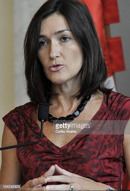 Spanish Culture Minister Angeles Gonzalez Sinde attends Cinematography Award 2010 at Victoria Eugenia Theater on September 18 2010 in San Sebastian...
