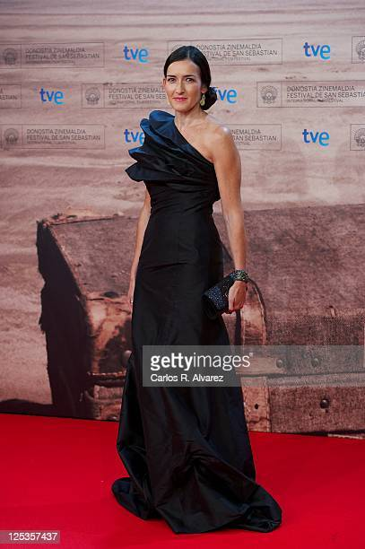 Spanish culture minister Angeles Gonzalez Sinde attends Intruders premiere at the Kursaal Palace during the 59th San Sebastian International Film...