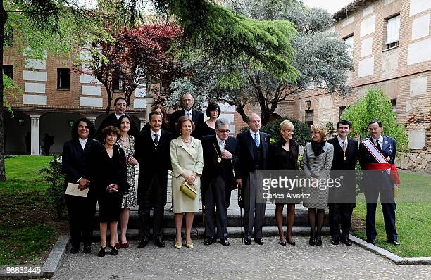 Spanish culture Minister Angeles Gonzalez Sinde President Jose Luis Rodriguez Zapatero Queen Sofia of Spain Mexican writer Jose Emilio Pacheco King...