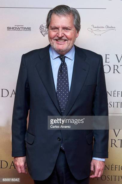 Spanish culture minister Inigo Mendez de Vigo attends 'Lo Que De Verdad Importa' premiere at the Capitol cinema on February 15 2017 in Madrid Spain