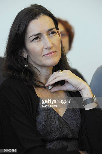 Spanish culture secretary Angeles GonzalezSinde attends the ceremony for the Spanish author Javier Marias who receives the Austrian state award for...